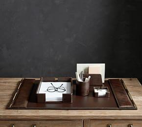 Klein Leather Desk Accessories Collection