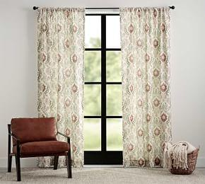 Ines Printed Curtain - Warm Multi