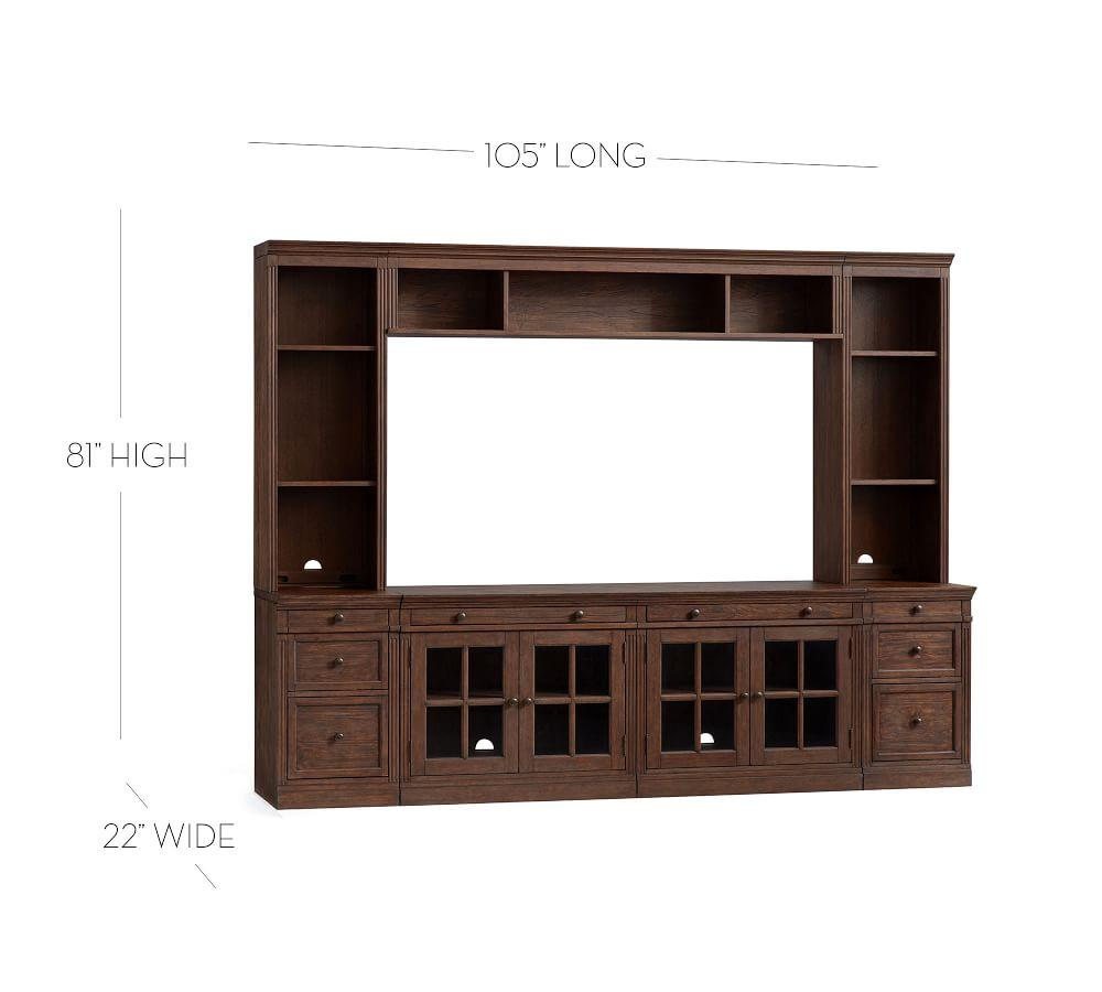 Livingston Medium Entertainment Center with Drawers, Dusty Charcoal