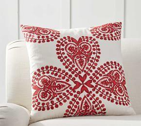 Jillian Embroidered Pillow Cover