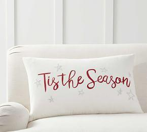 Tis The Season Embroidered Pillow Cover