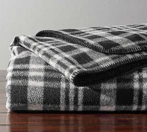 Wallace Plaid Sherpa Back Throw