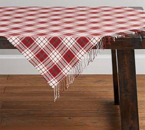 Parker Plaid Table Throw