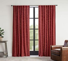 Seaton Textured Curtain - Sumac