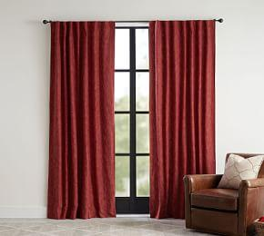 Seaton Textured Blackout Curtain - Sumac
