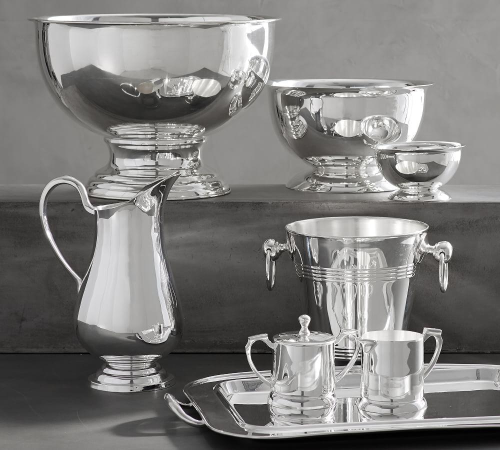 Polished Silver Serveware Collection