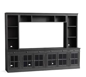 Livingston 7-Piece Entertainment Center, Dusty Charcoal