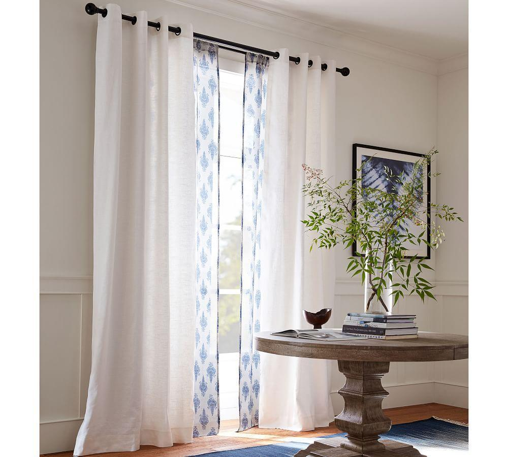 Emery Linen/Cotton Grommet Curtain - Oatmeal