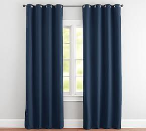 Indoor/Outdoor Grommet Curtain - Ink