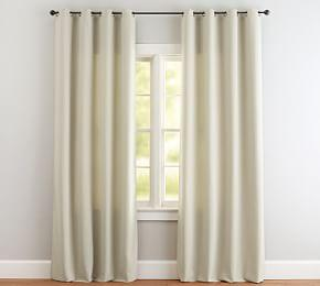 Indoor/Outdoor Grommet Curtain - Natural