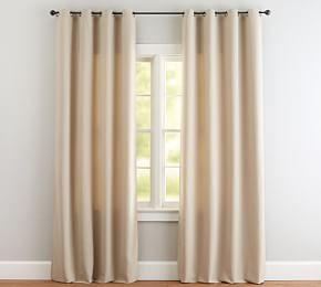 Indoor/Outdoor Grommet Curtain - Stone