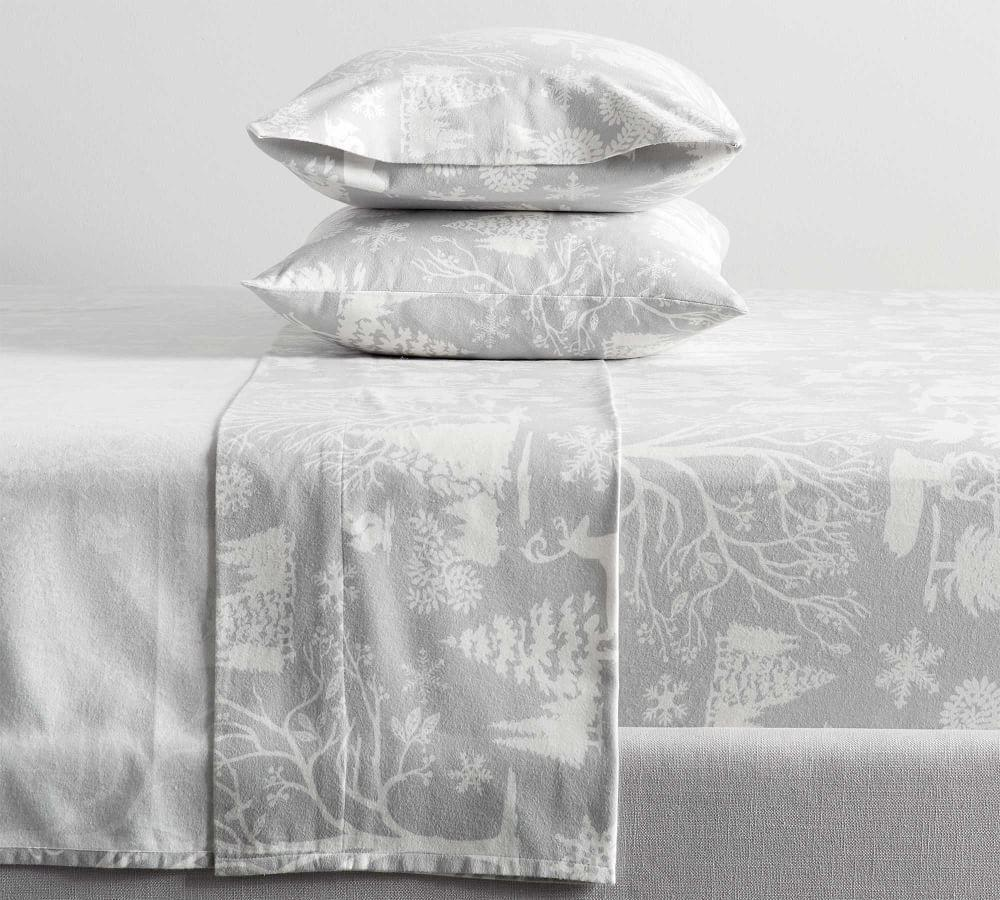 Frosted Forest Organic Cotton Flannel Cotton Sheet Set