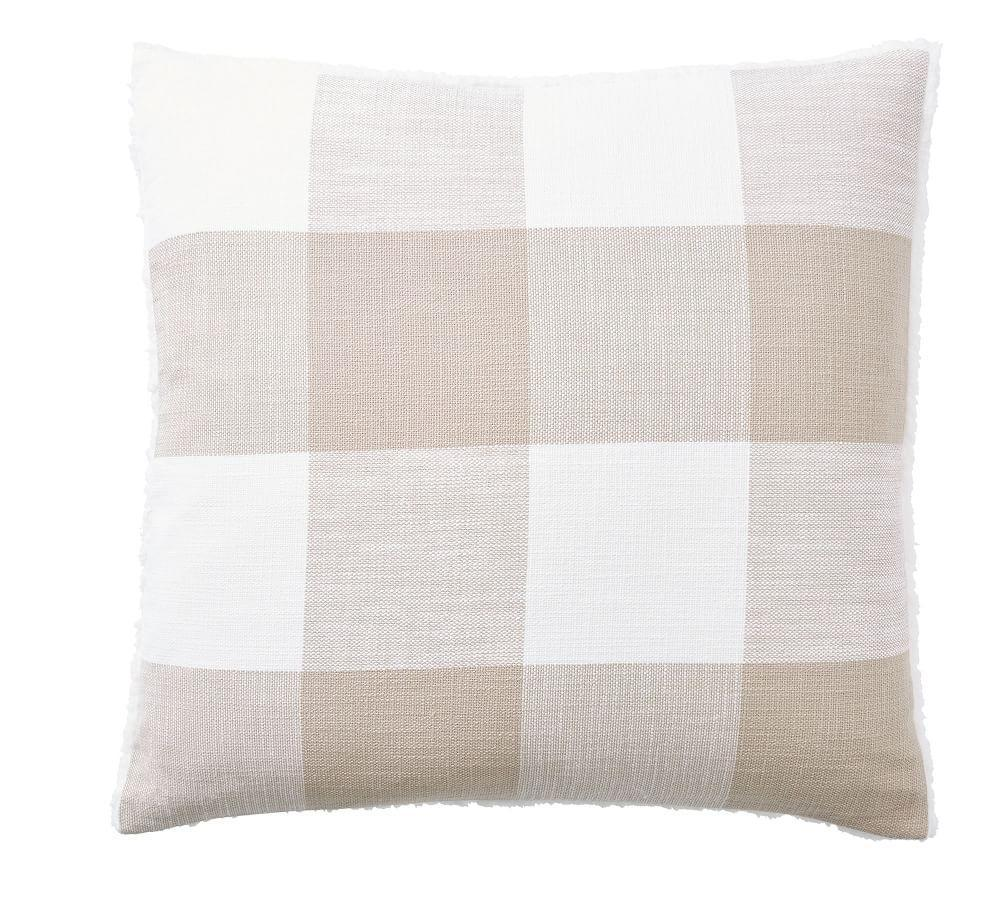 Bryce Check Sherpa Back Pillow Cover