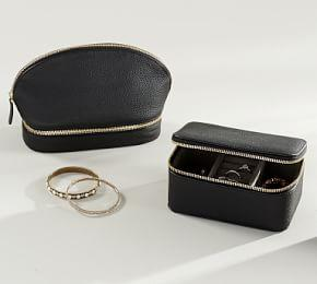 Reese Leather Jewelry Collection - Black