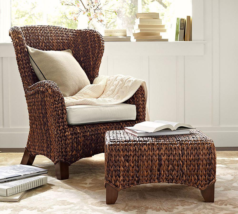 Seagrass Wingback Armchair | Pottery Barn CA