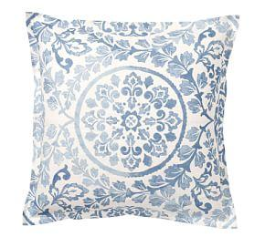 Ana Medallion Sham - Blue