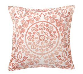 Ana Medallion Sham - Blush