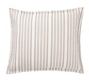 Antique Stripe Yarn Dye Cotton Shams - Taupe