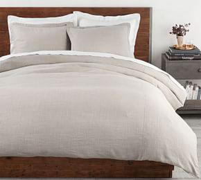 Belgian Flax Linen Duvet Cover & Shams Made with Libeco™ Linen - Pewter
