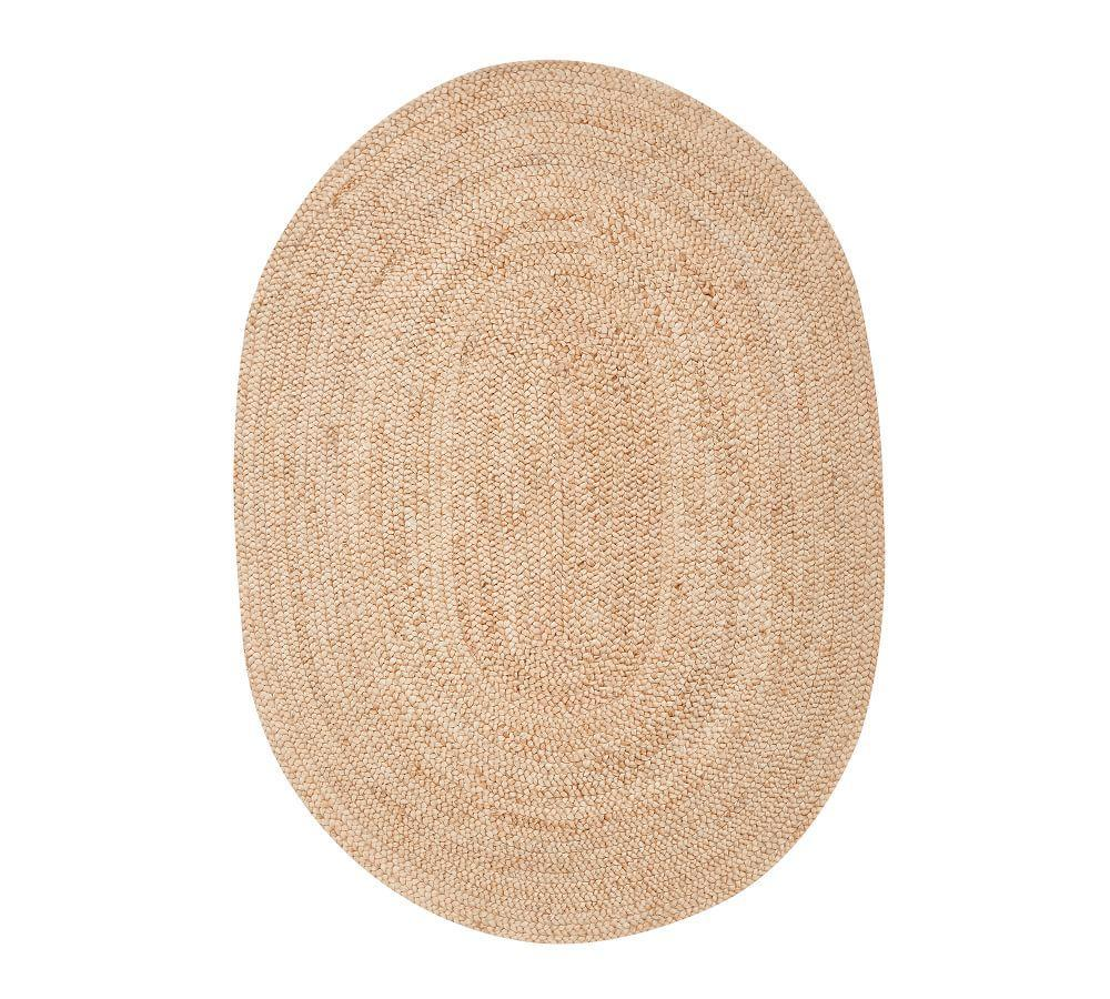 Braided Oval Jute Rug - Natural