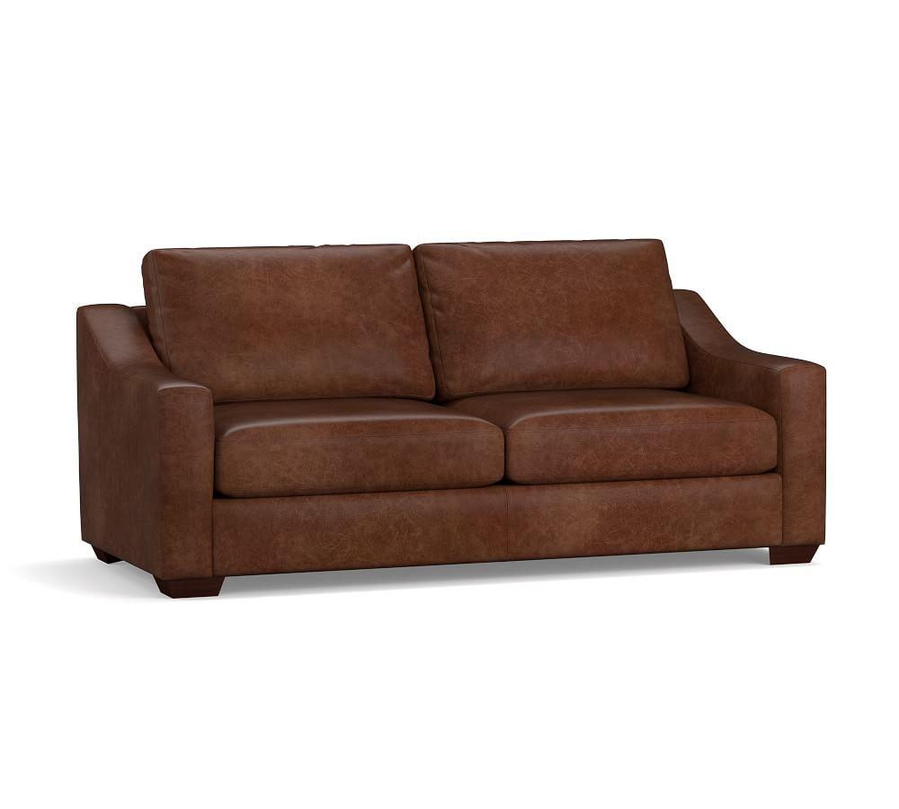 Big Sur Slope Arm Leather Sofa Collection