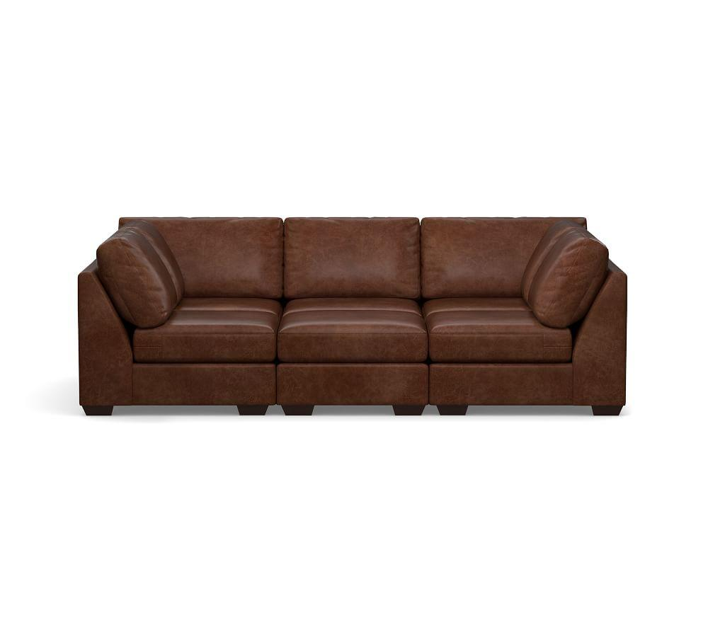 Big Sur Leather Pit Sectional
