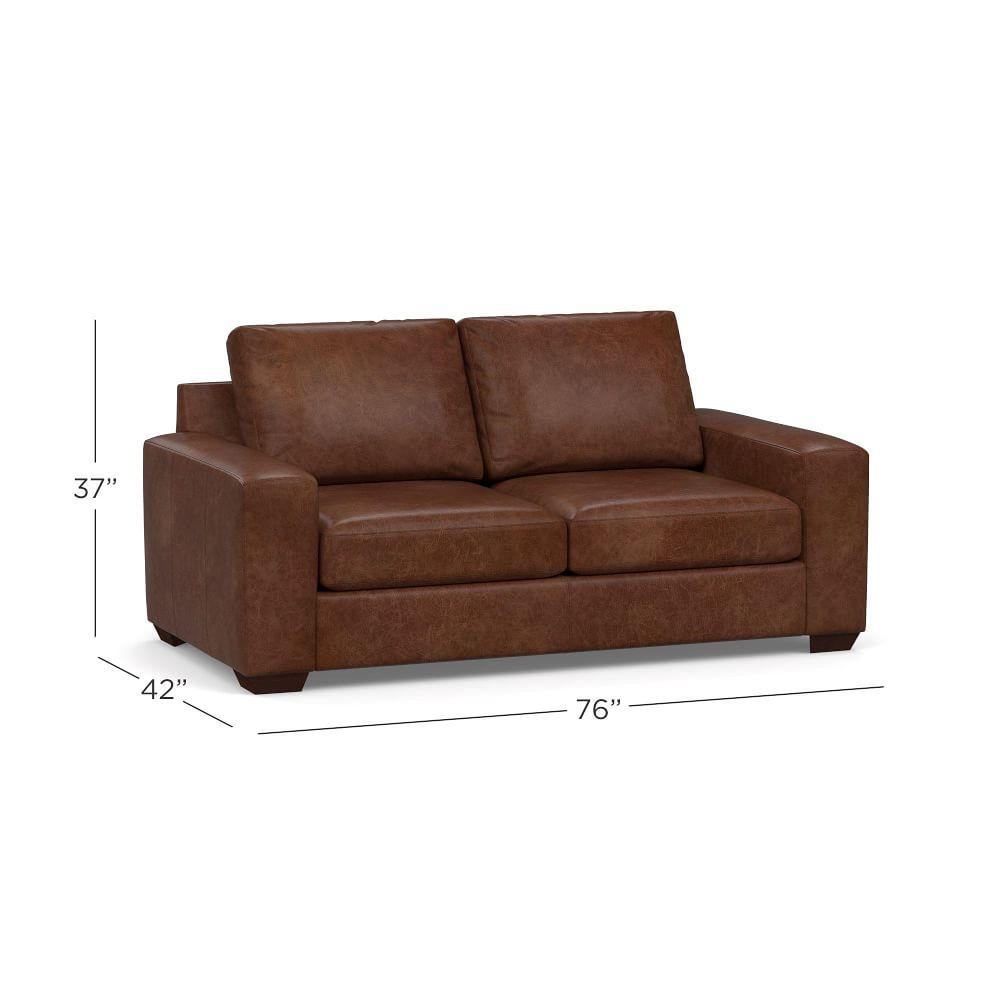 Big Sur Square Arm Leather Sofa Collection