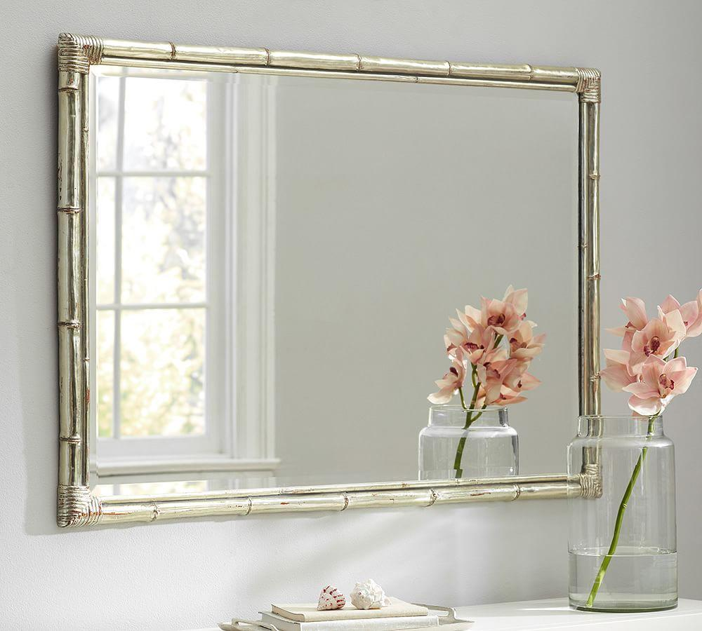 Bamboo Silver Gilt Wall Mirror