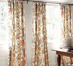 Cynthia Palampore Curtain - Ivory
