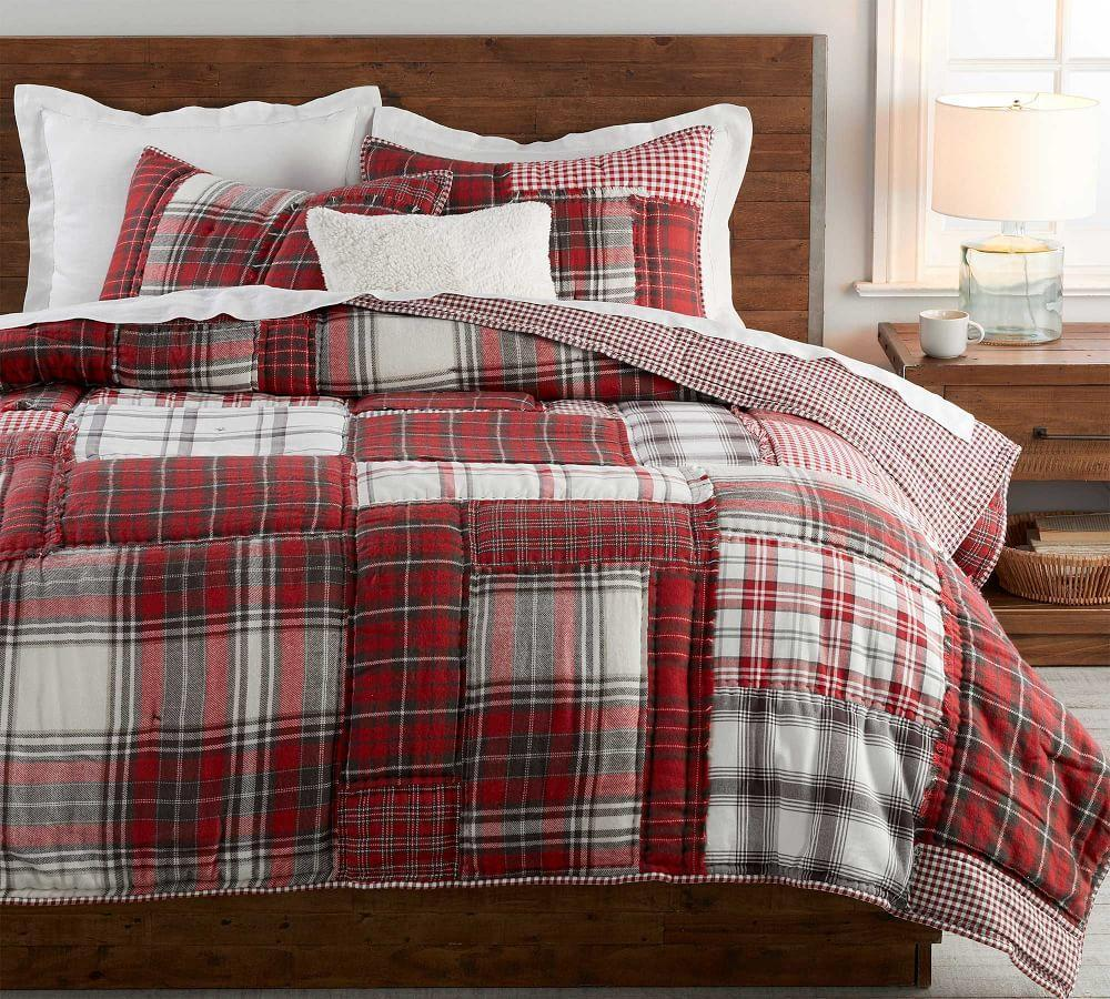 Easton Plaid Patchwork Cotton Quilt Amp Shams Pottery Barn Ca