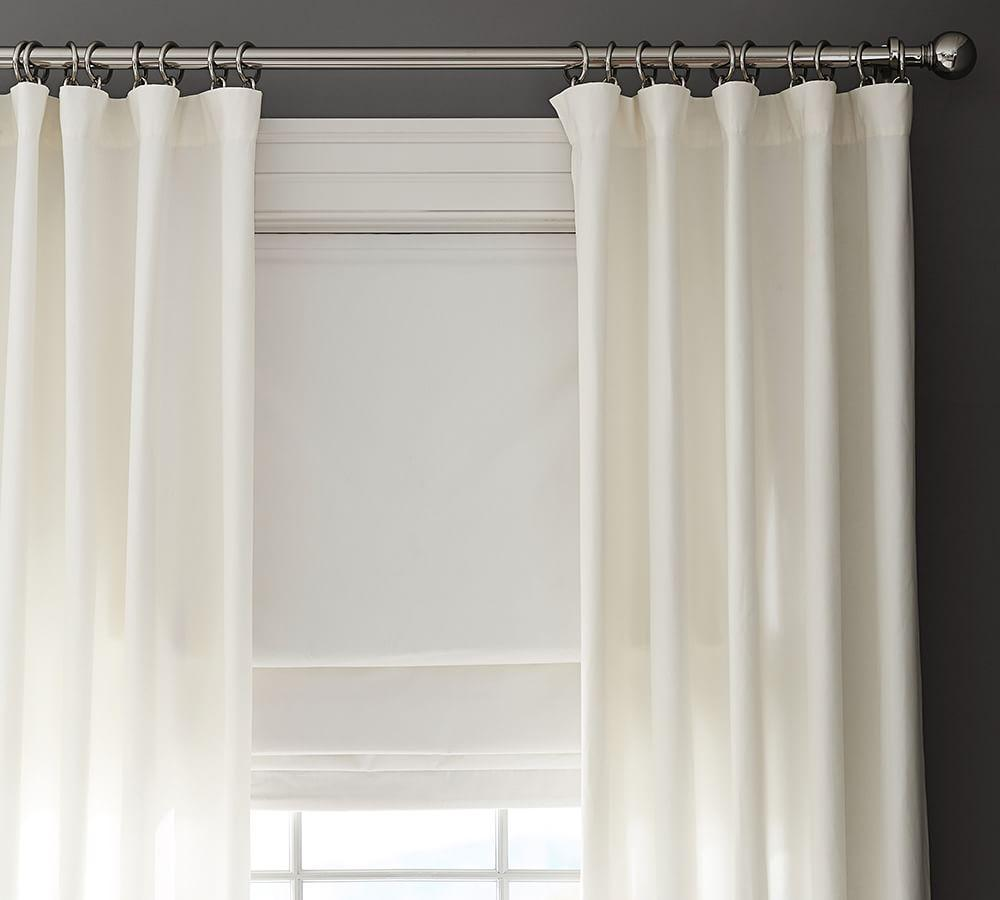 Emery Linen/Cotton Cordless Roman Shade - Charcoal