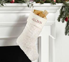 Faux Fur Stocking - Honeycomb