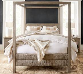 Farmhouse Woven Canopy Bed