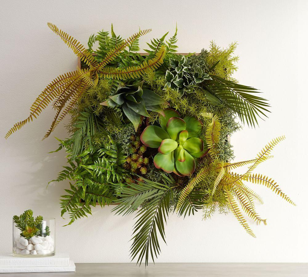 Faux Fern Wall Art