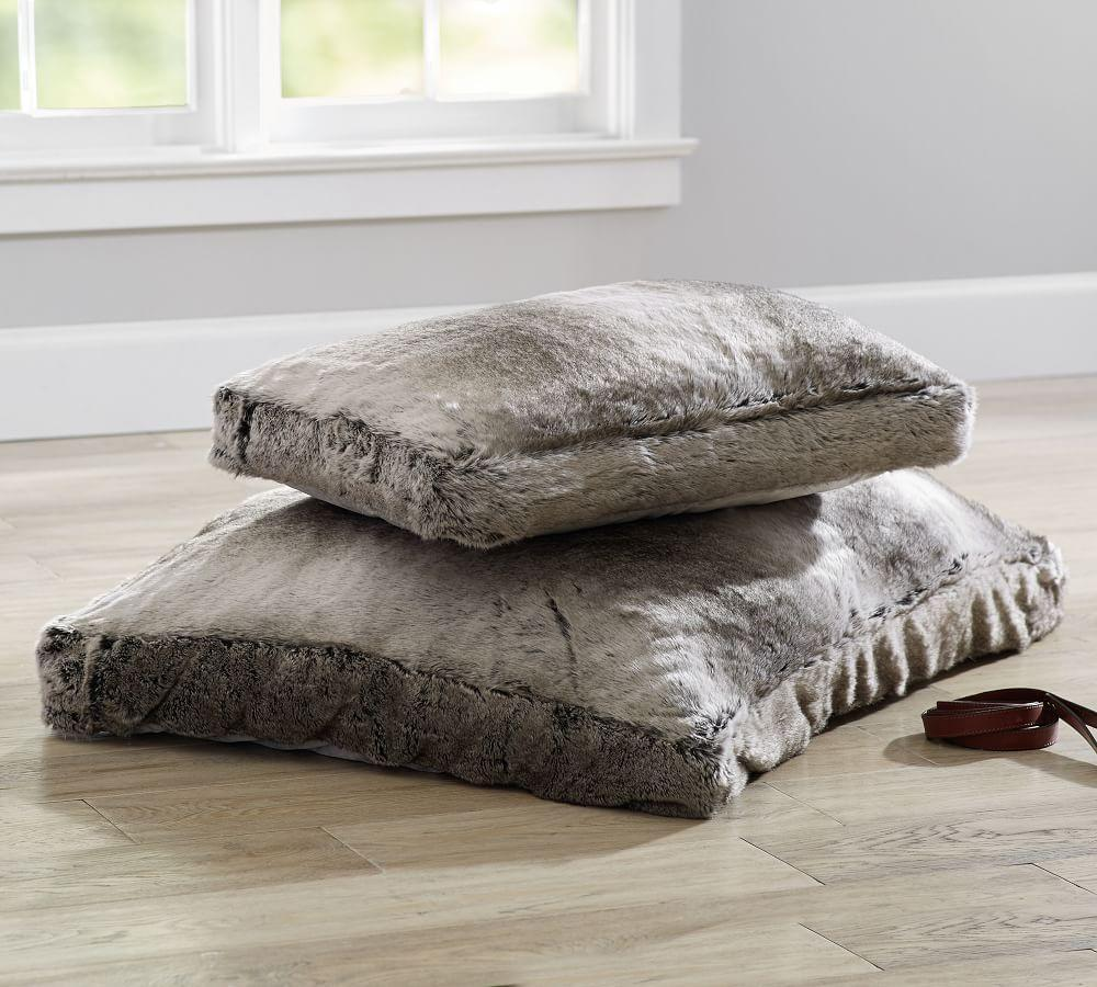 Faux Fur Pet Bed Cover - Gray Ombre