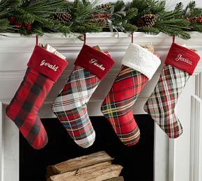 Personalized Plaid Stockings