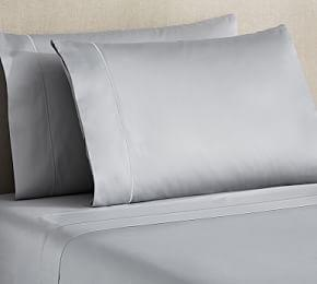 PB Organic 350-Thread-Count Sateen Sheet Set
