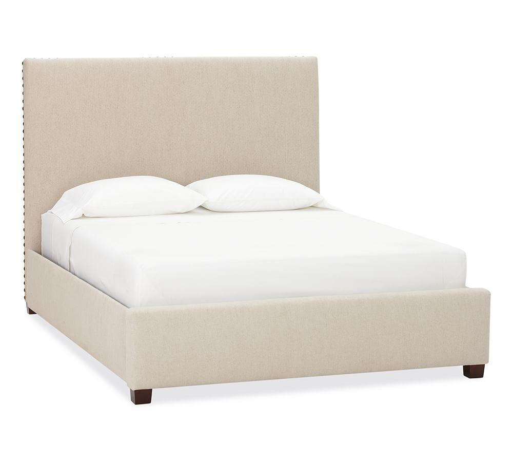 Raleigh Upholstered Square Tall Bed