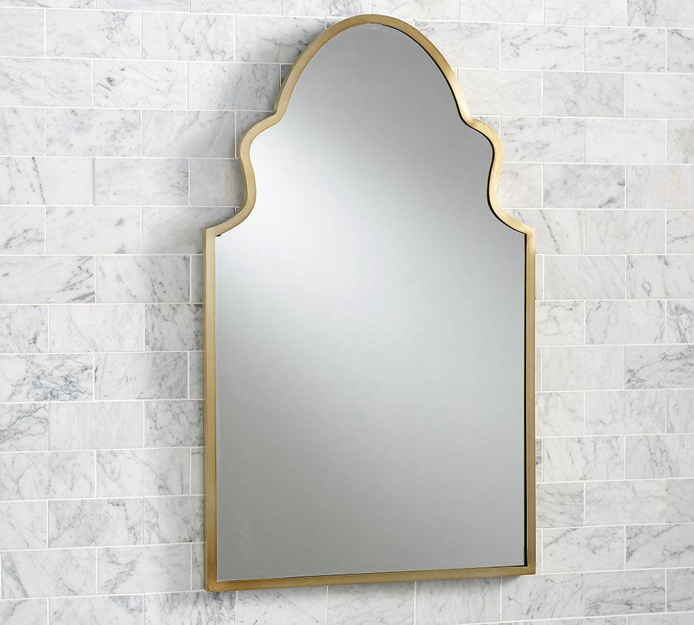 Stella Scrolled Edge Fixed Mirror