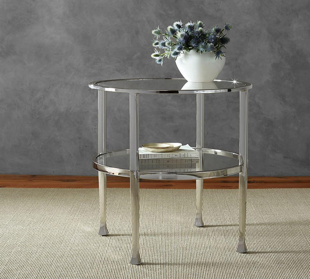 Tanner Round End Table Pottery Barn Ca