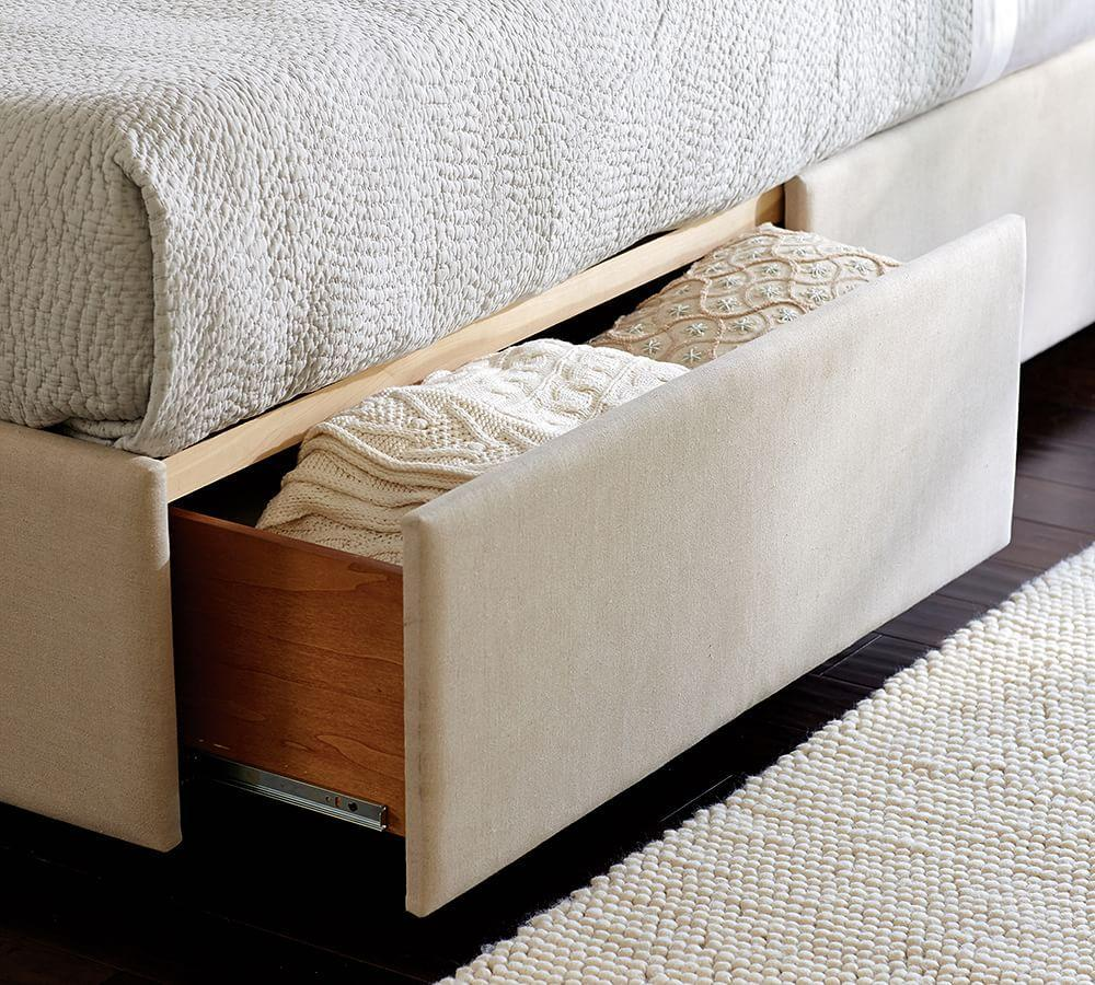 Upholstered Storage Platform Bed With Side Drawers