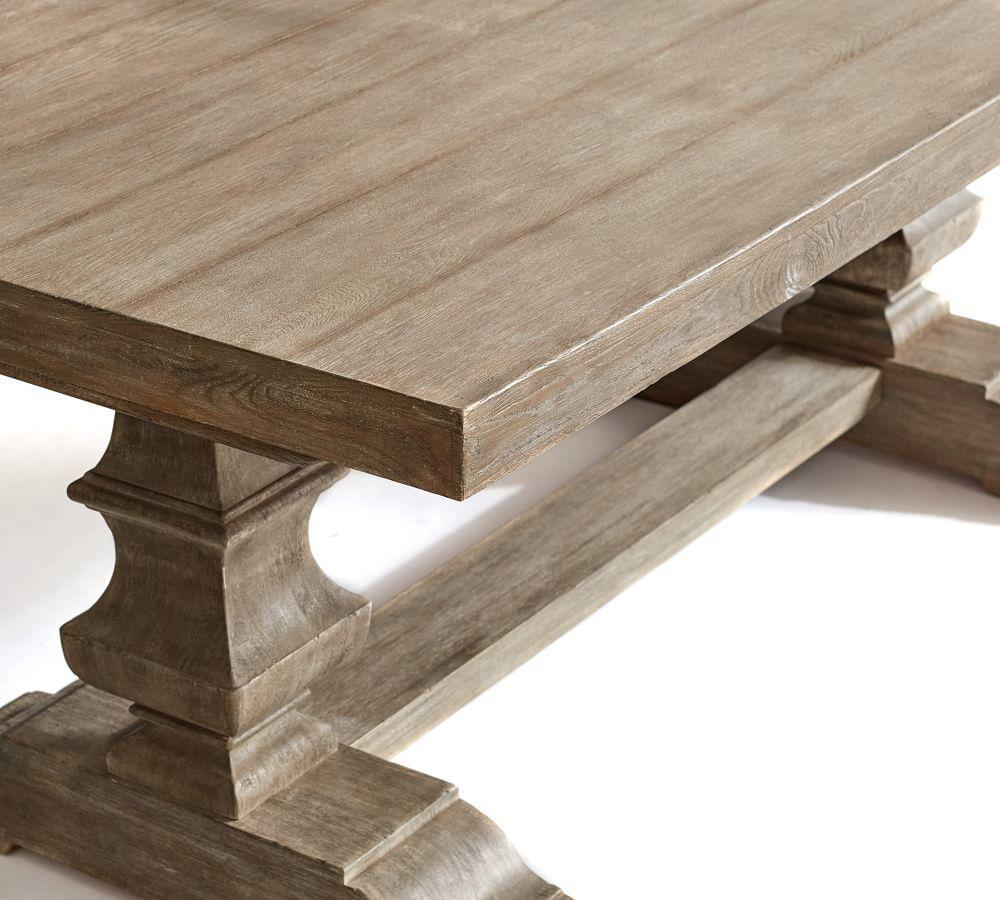 Banks Extending Dining Table, Gray Wash