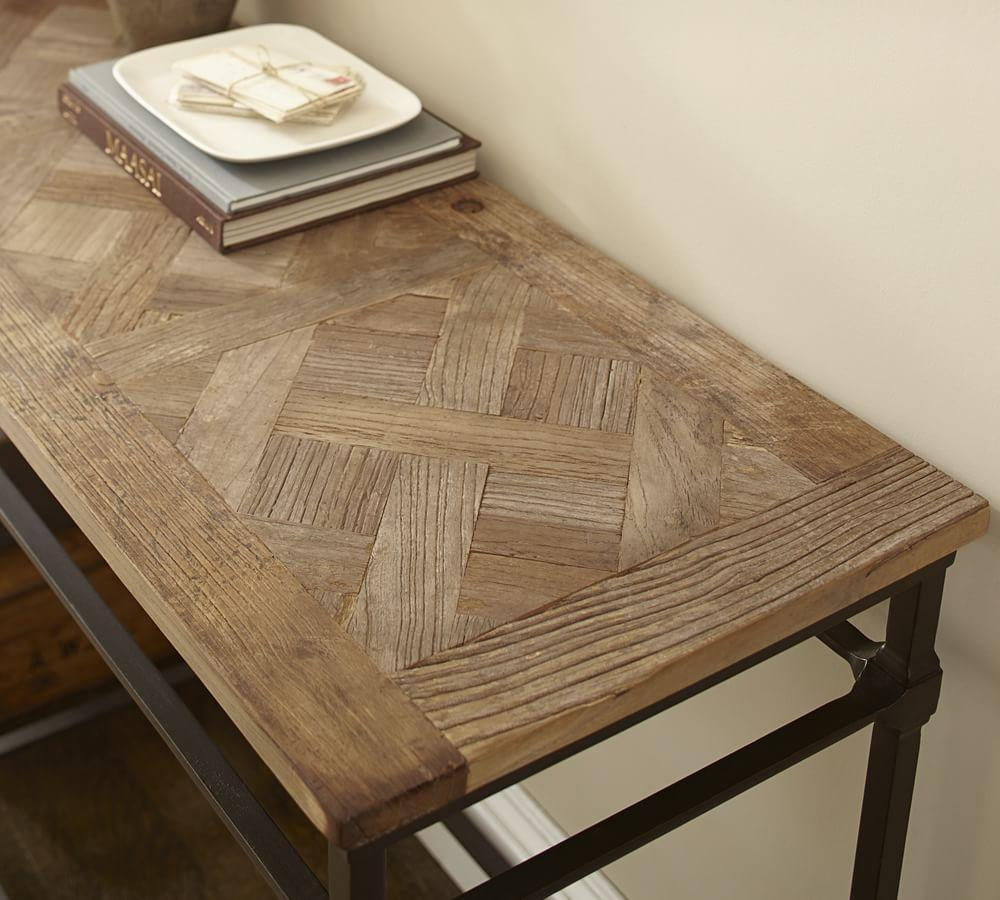 Parquet Reclaimed Wood Console Table