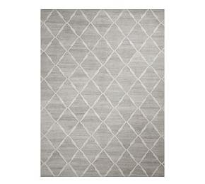 Easy Care Diamond Recycled Material Rug - Gray Multi