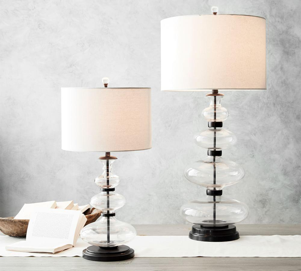 Estelle Stacked Glass Table Lamp