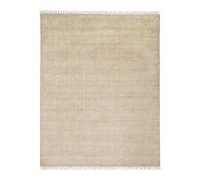 Fringed Hand-Loomed Rug - Heathered Taupe