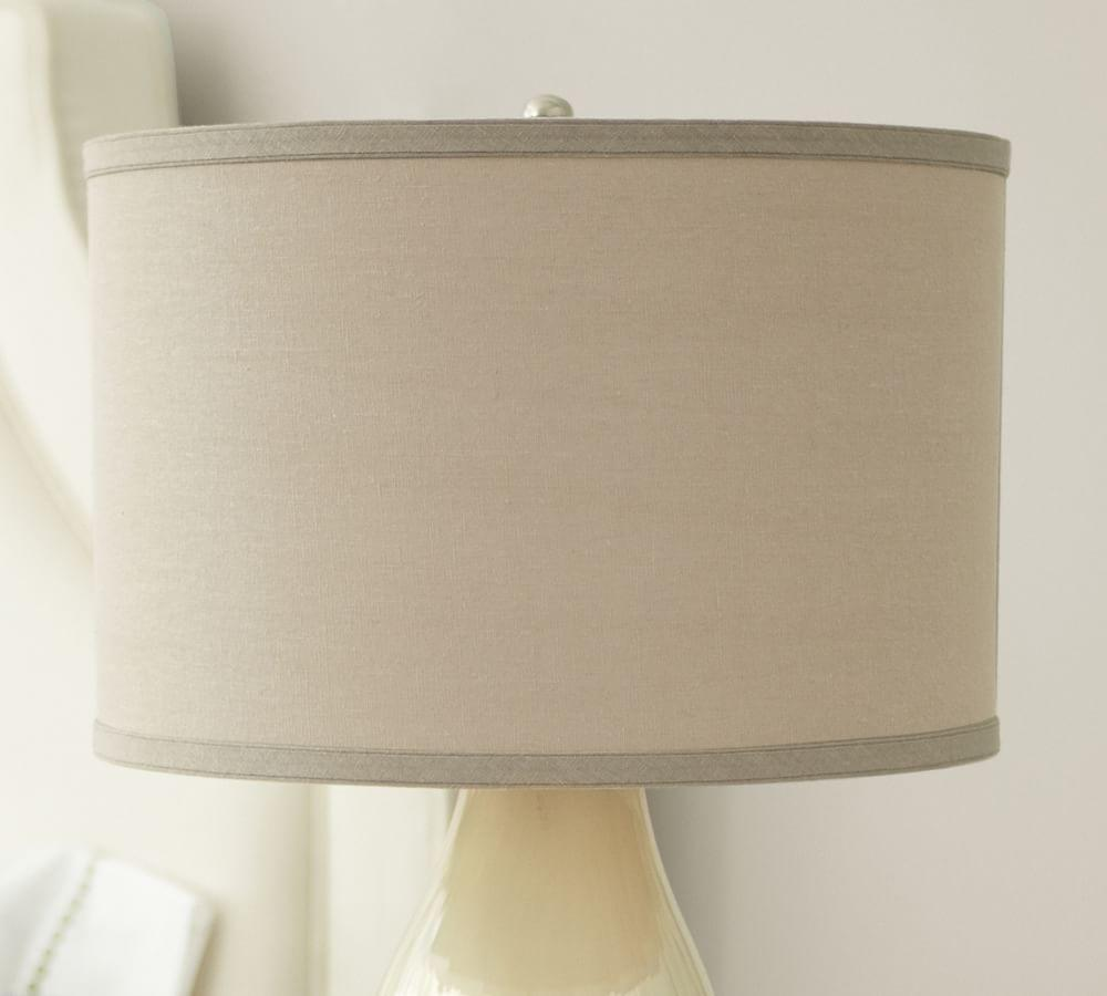 Straight-Sided Linen Drum Lamp Shade