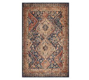 Mahalia Printed Rug - Blue Multi