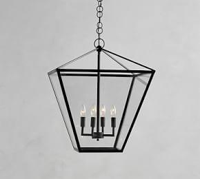 Manor Indoor/Outdoor Triangle Glass Pendant