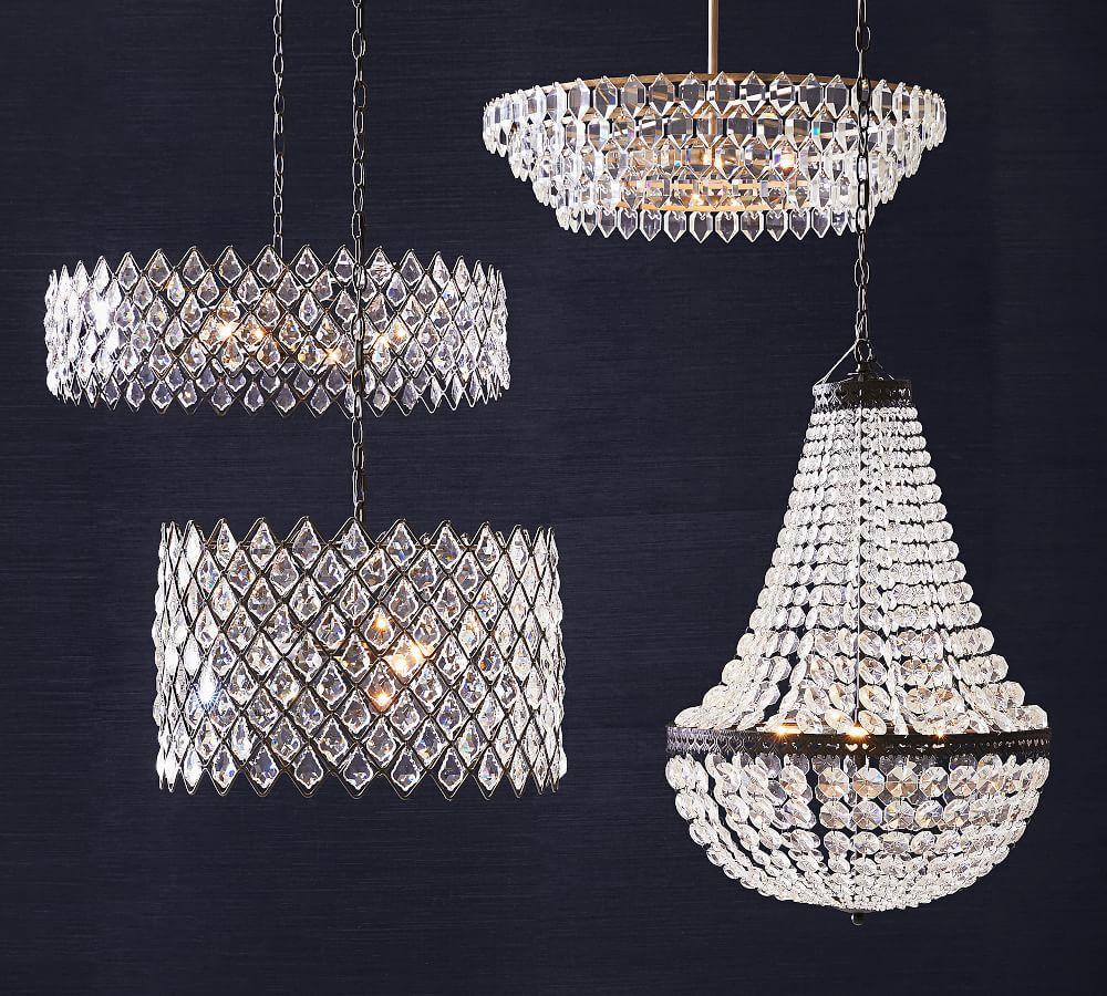 Mia Faceted-Crystal Chandelier
